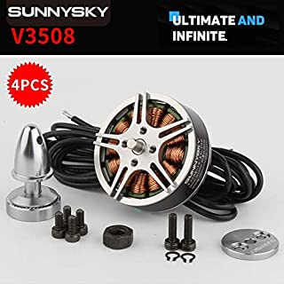 Hockus Accessories 4set/lot Original SUNNYSKY V3508 380kv 580kv 700kv Brushless Motor for RC Multicopter - (Color: V3808 KV580)