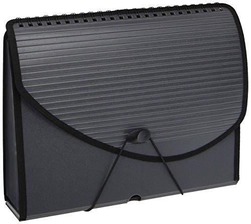 Pendaflex 13-Pocket Expanding Spiral File, Letter Size, Foam Poly, Smoke, 1/Each (1121)