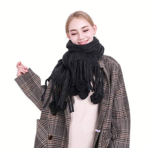 BMG Damen-Winter-Lange Weiche Warme Schottenkaro Schals Wraps Für Frauen Wolle Spinnen Troddel-Schal Lange Stola,B