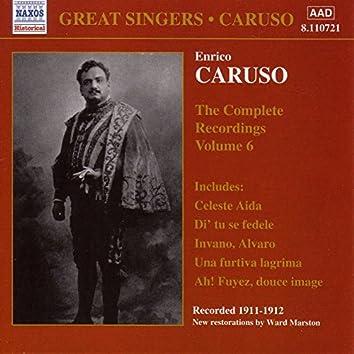 Caruso, Enrico: Complete Recordings, Vol.  6 (1911-1912)