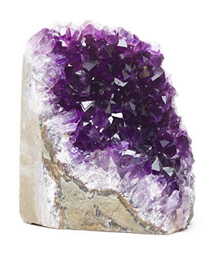 DesertUSA Basis aus Uruguayaischem Amethyst, Basalt Plus, Bonus Mineral enthalten (2,0 bis 1,1 kg, dunkellila Amethyst)