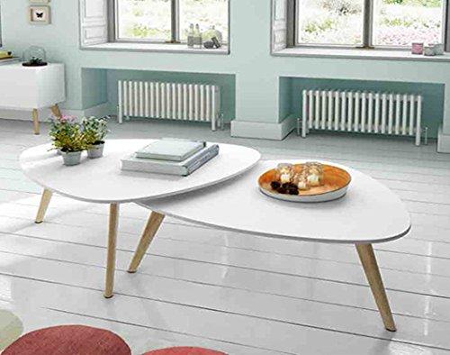DECORACIÓN BELTRÁN Table Basse en Bois (Set de 2) : Modèle SUÈDE