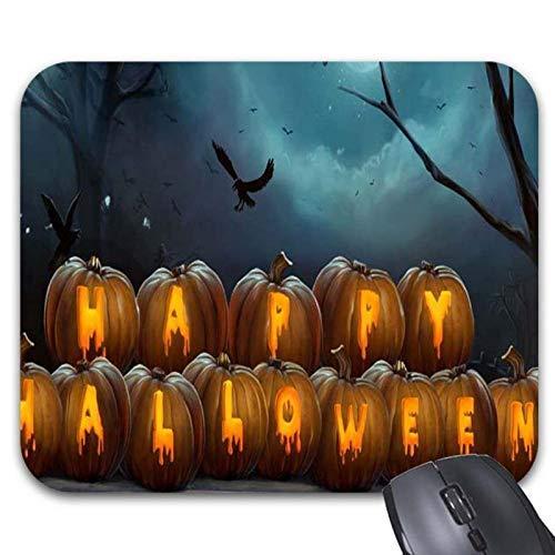 Happy Halloween Kürbisse Mousepad Vogel und Zweig Maus Matte Schreibtisch Zubehör