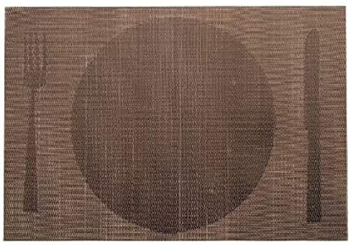 LACOR 45 x 30 cm-Tapis-Marron-Plaque Individuel