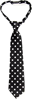 Retreez Classic Polka Dots Woven Microfiber Pre-tied Boy's Tie - Various Colors