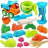 Vanplay Juguetes de Playa para Niños 19 Piezas Material de Paja de Trigo con...