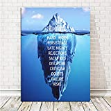 nr Leinwand Inspirierend Erfolg Zitat Poster Ice Mountain