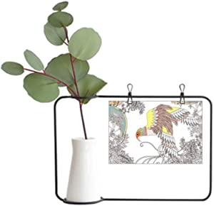 DIYthinker Wing Flower Tree Bird Ukiyo-e Metal Picture Frame Ceramic Vase Decor