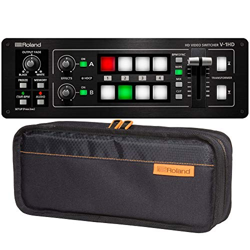 Roland V-1 Series Switcher with Carrying Case (V-1HD with CB-BV1)