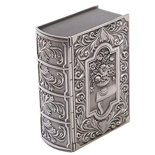 ZHJC Vintage Jewellery Gift Box Elegantly Carved Gift Box Metal Jewelry Box in the Shape of Pirates of The Caribbean Retro Collector (Color : Silver2, Size : 12.5x9.5x4.7cm)