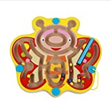 Mini Round Wooden Round Magnetic Maze Puzzle Interactive Maze Magnet Beads Maze on