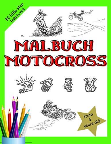 Malbuch Motocross:: Alle mit Motocross-Thema, Ausrüstung, Stunts usw. 28 Große Bilder zum Malen. Für Jungen und Mädchen. Verschiedene Schwierigkeitsstufen.