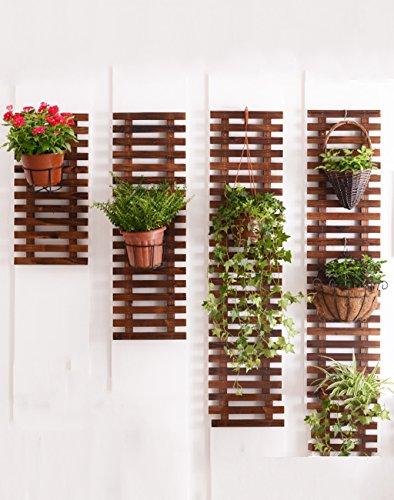 XWZHUAJIA XUEWENZHE Fleurs Etagère Mur Suspendu sur Le Support de Fleur Anti - Corrosion Salon Balcon Mur en Bois Massif Suspendus étagère Suspendu Mur Pot Fleur Pot Divers (Taille : 60+90+120+150cm)