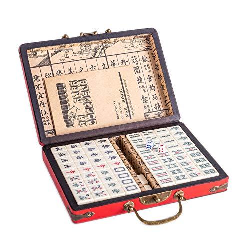 Lim Chinese Riichi Mahjong Set 144 Tiles (Mahjongg, Mah-Jongg, Mah Jongg Set, Majiang)(Size: M)