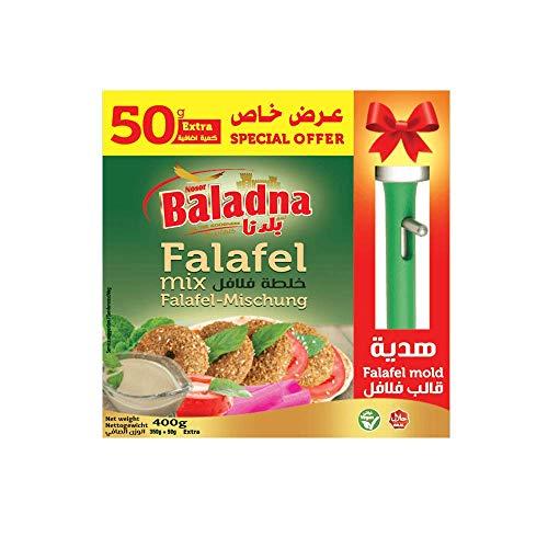 Baladna Falafel Mischung 400g mit Form, spitzen Qualität, aromatischer Geschmack, ohne künstliche Zusätze, vegetarisch – 100% HALAL & VEGAN