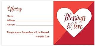 Love Offering Envelope - Blessings & Love - Box of 100 - NIV Scripture