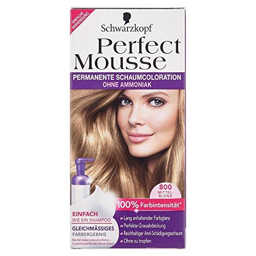 Schwarzkopf Perfect Mousse colorations-mousses permanentes   Blond   800 niveau 3   Lot de 1   1 x 93 ml
