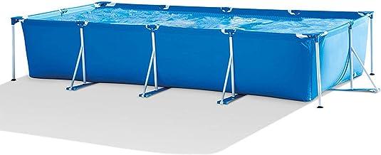 Piscina Desmontable - Piscina Tubular - Piscina Rectangular PVC - Piscinas De Jardín - Piscina Frame - Piscina Metal Frame para Niños, Adultos, Jardín Familiar Al Aire Libre, Azul,450×220×84cm