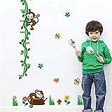 Wandtattoo Baum Affe Vogel DIY Kinderzimmer Kinderzimmer Kindergröße Messlatte Messlatte Kinderzimmer Kinderzimmer Kinderzimmer Kinderzimmer Kinderzimmer