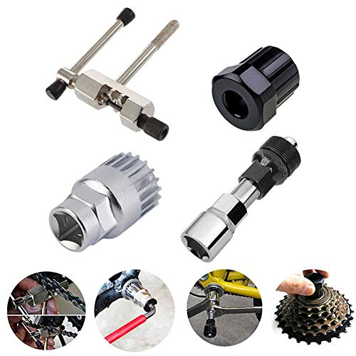 Carre Mark 4pcs/Set Mountain Bike Cadena Bicicleta manivela Eje Extractor Distancia Reparación Tool Kit
