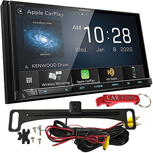 Kenwood DMX907S 6.95' Capacitive Receiver Safe Driver's Bundle with Voxx HD Backup Camera. 2-DIN Bluetooth Stereo with Apple CarPlay, Android Auto, Wireless Mirroring, SiriusXM Ready, Maestro Ready