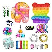感覚の指着のおもちゃセット、無限の立方体プッシュのポップバブル、大人のための抗不安のストレスの救済救助の手のおもちゃの子供(4#) (Color : 5#)
