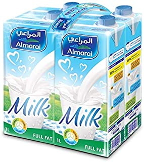 Almarai Full Fat Milk Screwcap With Vitamin, 4 x 1 Liter