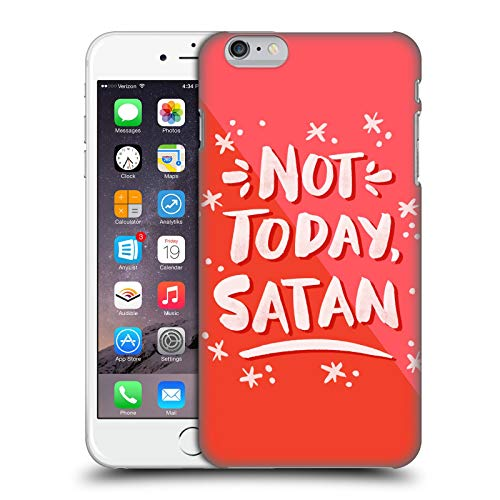Head Case Designs Oficial Cat Coquillette Hoy no Satanás Cotizaciones Tipografía 7 Carcasa rígida Compatible con Apple iPhone 6 Plus/iPhone 6s Plus