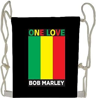 WATINCFlagHomegg One Love Bob Marley Drawstring Bag Gym Bag Travel Backpack Best Gym Backpacks For Teen Men Women