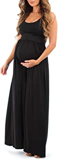 Women's Ruched Sleeveless Maternity Dress in Regular and Plus Sizes - Made in USA