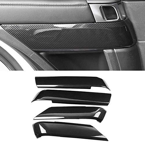 ACYCY 4 Stück Hochwertiges Auto-Innenraumtür-Dekorabdeckung-Zubehör Für Kohlefaser-Stil Für Land Rover Range Rover Sport 2014-2017
