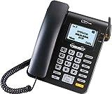 Maxcom - teléfono Fijo gsm de Escritorio con Tarjeta sim función SMS (Seniors, Escritorio.)- mm28d- Negro