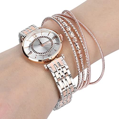 Uhr Armband Set Modeschmuck Geschenkset Armband Uhr Armband für Party Geburtstag Jubiläumsgeschenk Frauen weibliche Freundin(01)
