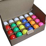 Limão - Lot de 24 ampoules LED B22 1,5W à culots renforcés - 110 Lumens - Rouges, Bleues, Vertes, Jaunes, Roses, Oranges et Blanc Chaud incassables (équivalent 15W) pour Guirlande Extérieure