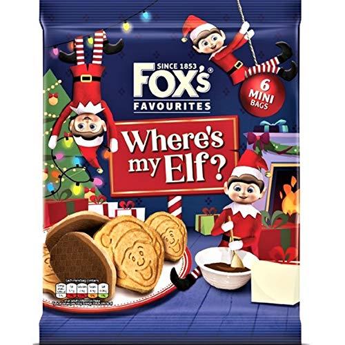 Fox's Mini Elfo Sul Mensola Biscotti rivestiti al cioccolato al latte 132 g - Confezione da 2