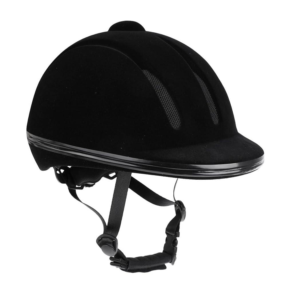 可動式辞書威するFenteer スポーツ 馬術 乗馬用ベルベット ヘルメット ヘッドプロテクター 通気性抜群 軽量 調節可能 快適 高品質 全2サイズ