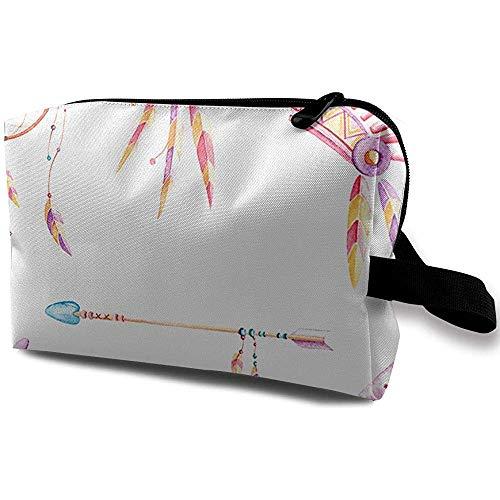 Sac à cosmétiques de Voyage Sac à Main Portable Rêves autochtones Pochette de Toilette Petit Sac de Maquillage Étui pour Organisateur