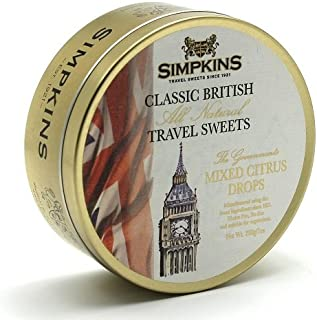 Simpkins Big Ben Citrus Classic British Travel Sweets 200g