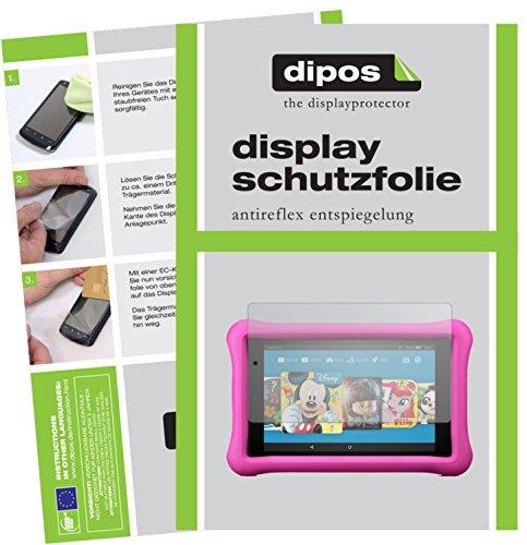 dipos I 2X Schutzfolie matt kompatibel mit Amazon Fire 7 Kids Edition (2017) Folie Bildschirmschutzfolie