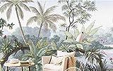 HUANG YA HUI Papel pintado La Selva Tropical Wallpaper Imprenta Murales Ktv Hotel, El Restaurante Es El Tema Papel Tapiz