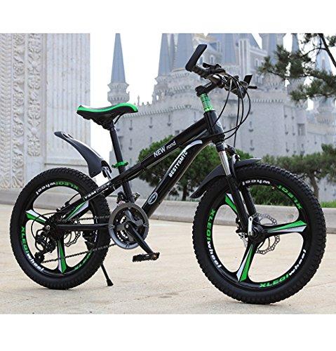CivilWeaEU- Bicicletta da Bambino 20 Pollici velocità Mountain Bike 6-10-11-12 Anni Ragazzo scolara Freni a Doppio Disco (Multicolor Opzionale) (Colore : Nero)