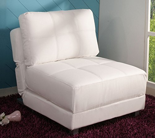 Gold Sparrow New York Convertible Chair Bed, White