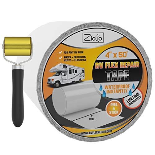 Ziollo RV Flex Repair Tape | White | 4 inch x 50...