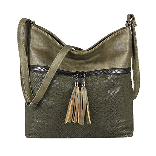 OBC Only-Beautiful-Couture, Borsa tote donna Verde verde scuro
