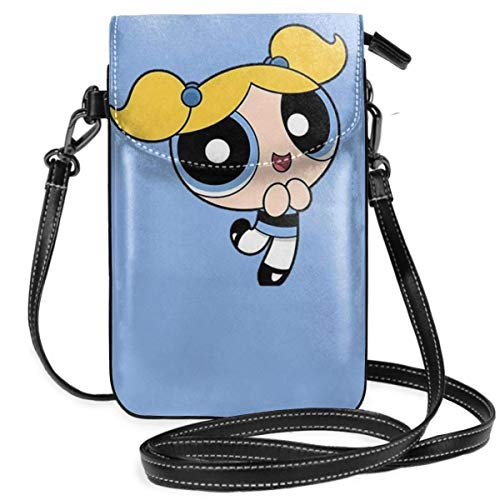 Lsjuee Womens Crossbody Bags Powerpuff Girls Blue Small Cell Phone Purse Wallet with Credit Card Slots