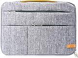 SCOPE -5750- Laptop Tasche 14 Zoll Notebook Sleeve Hülle Hülle mit Zubehör Fächern, Laptoptasche Schutzhülle mit Fleece Innen Tasche für Netbook MacBook IPad Lenovo Yoga Surface