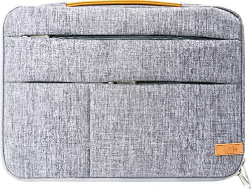 SCOPE -5750- Laptop Tasche 14 Zoll Notebook Sleeve Case Hülle mit Zubehör Fächern, Laptoptasche Schutzhülle mit Fleece Innen Tasche für Netbook MacBook IPad Lenovo Yoga Surface