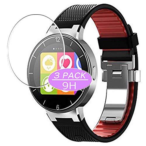 Vaxson Protector de pantalla de cristal templado, compatible con Alcatel One Touch Smartwatch híbrido, protector de película 9H