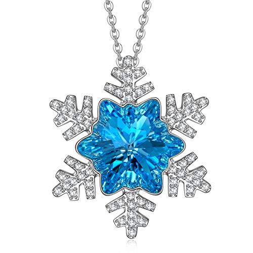 Alex Perry Geschenke für ihre Schneekette Anhänger Damen Geschenke für Frauen Schmuck Valentinstag Muttertag Geburtstagsgeschenke Jubiläum Kristall verstellbare Halskette