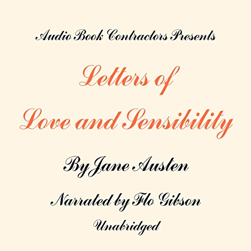 Letters of Love and Sensibility audiobook cover art
